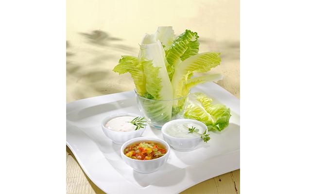 Ver Receta de SalaRico® con tres salsas.